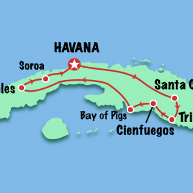 Map 11 Day New Years Tour